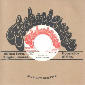 "(7"") ANSEL COLLINS - STALAG 17 / TECHNIQUES ALL STARS ‎– STALAG 18"
