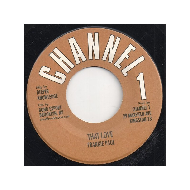 "(7"") FRANKIE PAUL - THAT LOVE / VERSION"