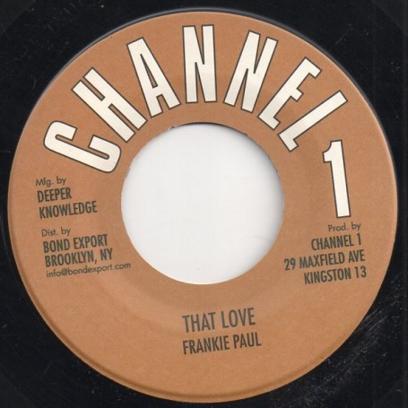 "(7"") FRANKIE PAUL - THAT LOVE / VERSION"