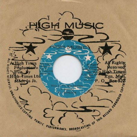 "(7"") AL KENLOCK - TELL IT TO JAH NATION / SHORT MAN - LIGHT YOUR SPLIFF"