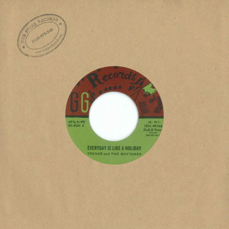 "(7"") TREVOR AND THE MAYTONES ‎– EVERYDAY IS LIKE A HOLIDAY / HAVE YOU TIME"