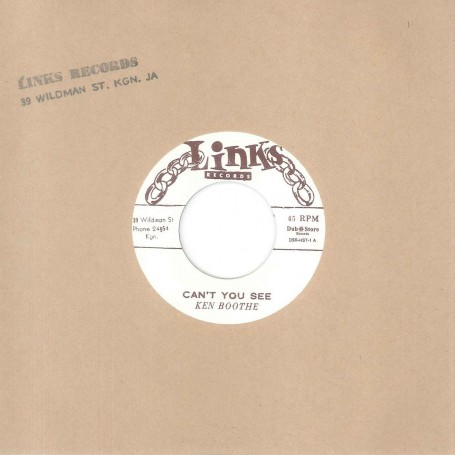 "(7"") KEN BOOTHE ‎– CAN'T YOU SEE / I REMEMBER SOMEONE"