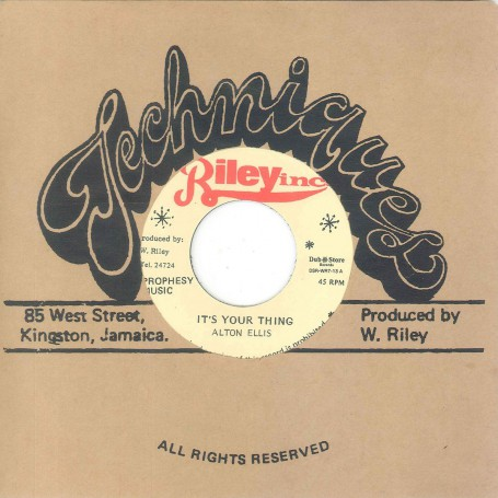 "(7"") ALTON ELLIS ‎– IT'S YOUR THING / VIN GORDON - YOUR THING INST."