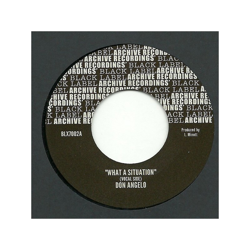 "(7"") DON ANGELO - WHAT A SITUATION / VERSION"