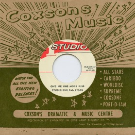 "(7"") STUDIO ONE ALL STARS - GIVE ME ONE MORE KISS / DON DRUMMOND & THE SKATALITES ‎– MAN IN THE STREET"