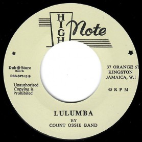 "(7"") COUNT OSSIE BAND ‎– LULUMBA (ALTERNATIVE TAKE)"