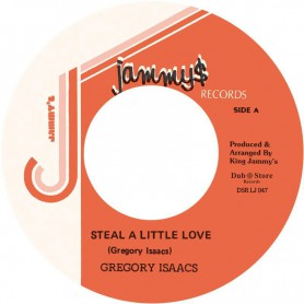 "(7"") GREGORY ISAACS ‎– STEAL A LITTLE LOVE / VERSION"