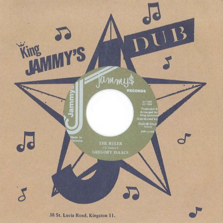 """(7"""") GREGORY ISAACS – THE RULER / VERSION"""
