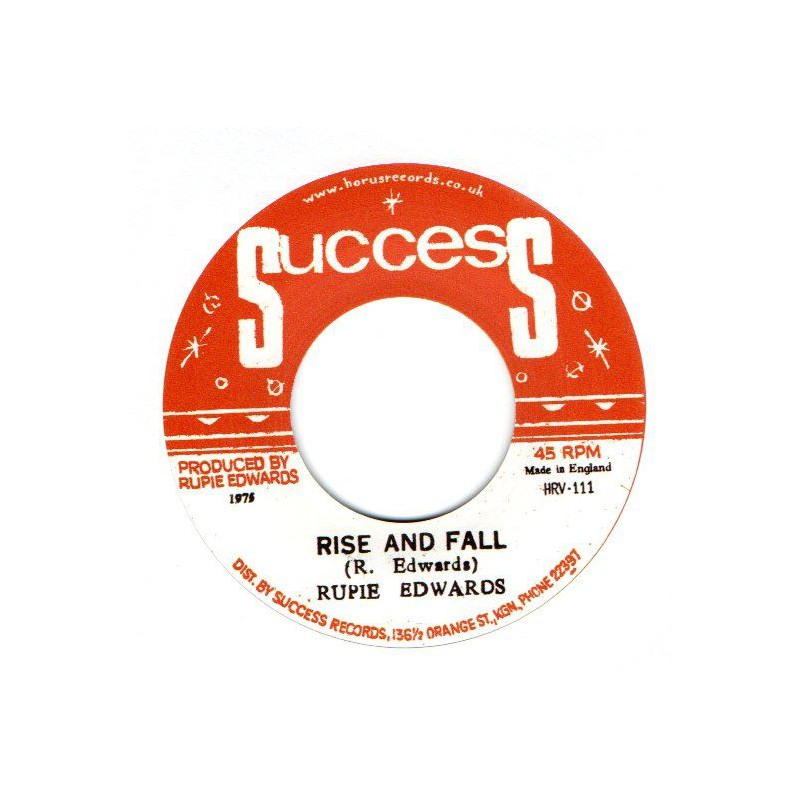 """(7"""") RUPIE EDWARDS - RISE AND FALL / RISE IN DUB"""