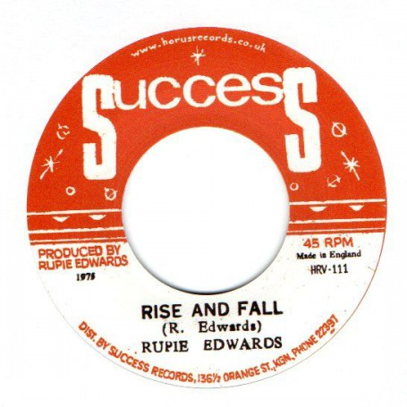 "(7"") RUPIE EDWARDS - RISE AND FALL / RISE IN DUB"