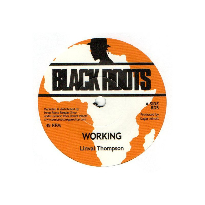 "(7"") LINVAL THOMPSON - WORKING MAN / VERSION"