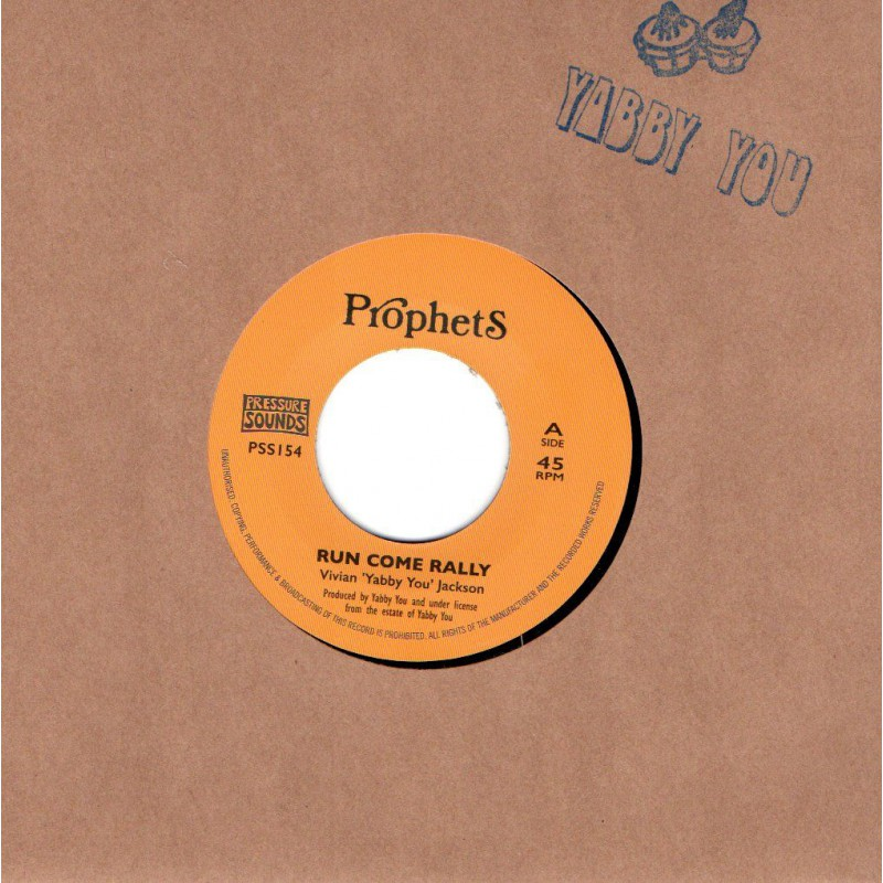 "(7"") VIVIAN ""YABBY YOU"" JACKSON - RUN COME RALLY / RALLY DUB"