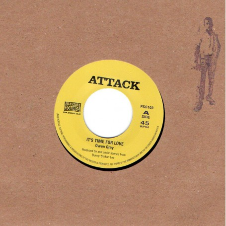 "(7"") OWEN GRAY WITH BOBBY ELLIS & VAL BENNET - IT'S TIME FOR LOVE / THE ARABIAN SOUND OF REGGAE"