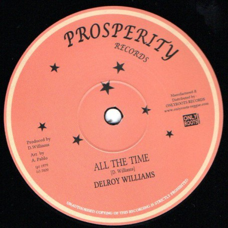 "(12"") DELROY WILLIAMS - ALL THE TIME / JAH BULL - WE KNOW WHERE WE ARE GOING"