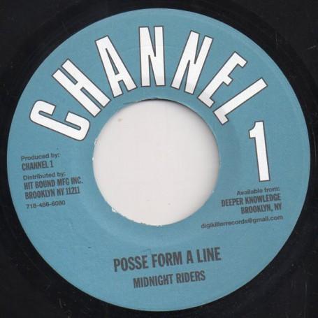 "(7"") MIDNIGHT RIDERS - POSSE FORM A LINE / DUB"
