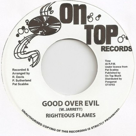 "(7"") RIGHTEOUS FLAMES - GOOD OVER EVIL / VERSION"