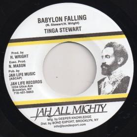 """(7"""") TINGA STEWART - BABYLON FALLING / VERSION"""
