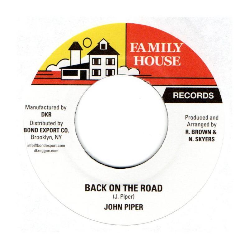 "(7"") JOHN PIPER - BACK ON THE ROAD / VERSION"