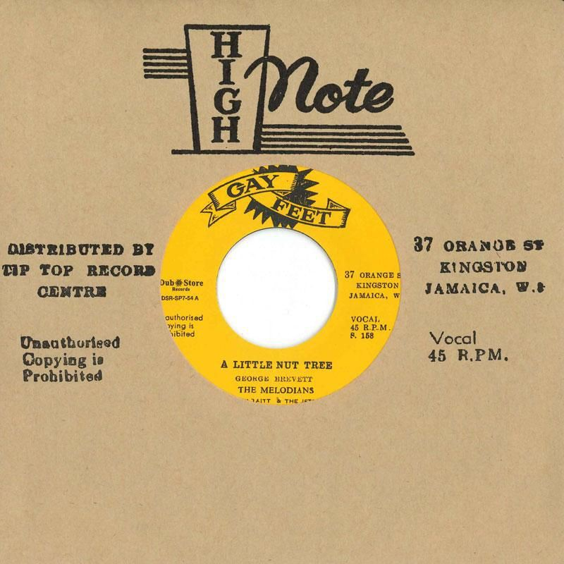 """(7"""") THE MELODIANS - A LITTLE NUT TREE / YOU ARE MY ONLY LOVE"""