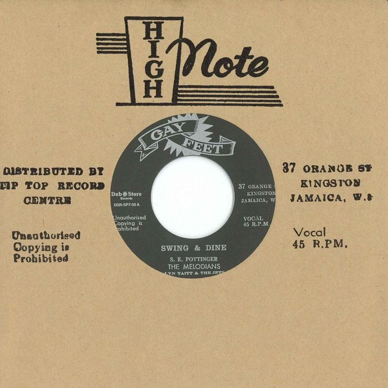 """(7"""") THE MELODIANS - SWING & DINE / I COULD BE A KING"""