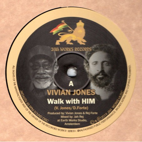 "(10"") VIVIAN JONES - WALK WITH HIM / JAH REJ - DUB WALK"