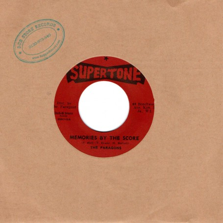 """(7"""") THE PARAGONS - MEMORIES BY THE SCORE / MY NUMBER ONE"""