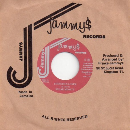 """(7"""") SUGAR MINOTT - CONSCIOUS LOVER / PAD ANTHONY - BY SHOW DOWN"""