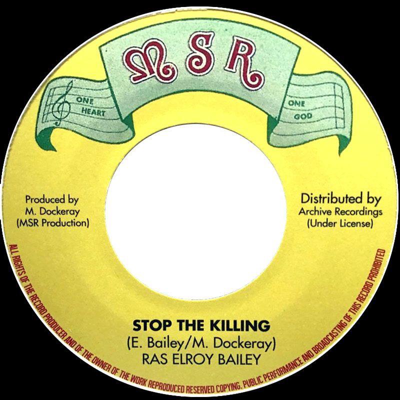 "(7"") RAS EL ROY - STOP THE KILLING / KILLING DUB"