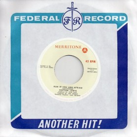"""(7"""") HOPETON LEWIS - RUN IF YOU ARE AFRAID / SOUNDS AND PRESSURE"""
