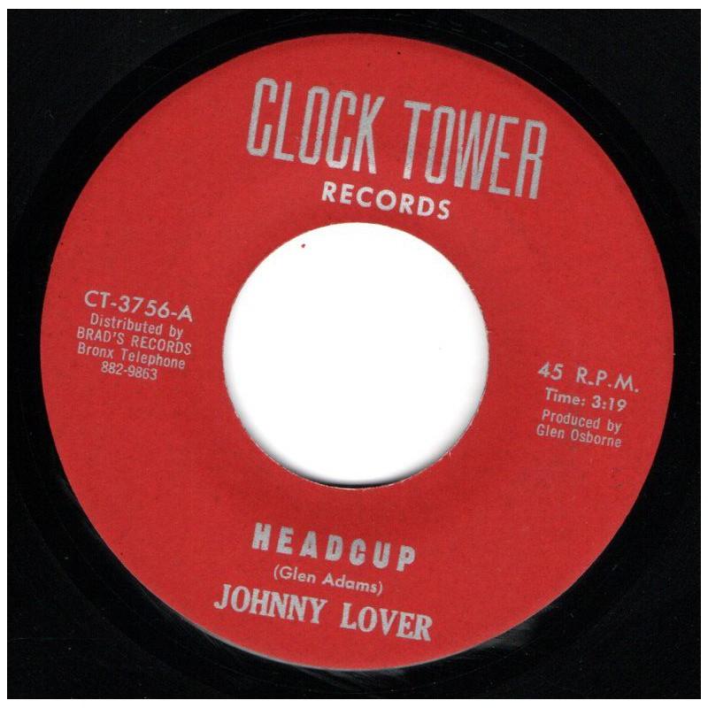 "(7"") JOHNNY LOVER - HEADCUP / GLEN ADAMS - ECHO"