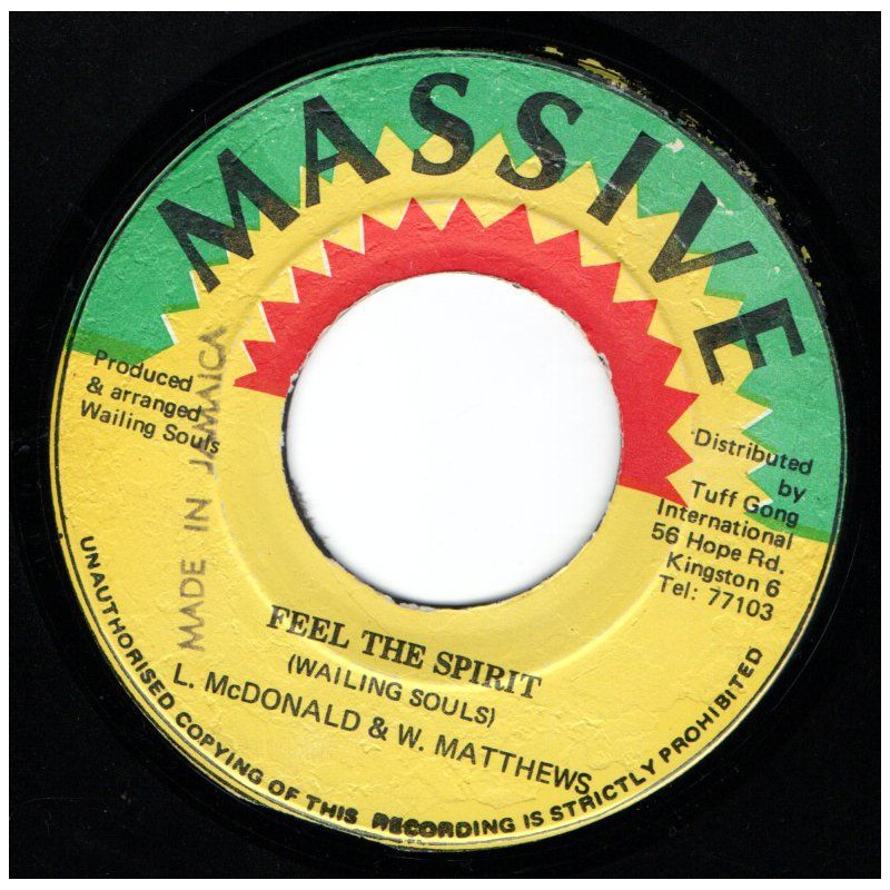 "(7"") WAILING SOULS - FEEL THE SPIRIT / FEEL THE SPIRIT VERSION"