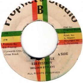 "(7"") EDI FITZROY - JAH JAH STYLE / OILEY STYLEY"