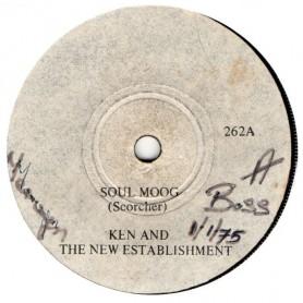 """(7"""") KEN AND THE NEW ESTABLISHMENT - GOLDEN LOCKS / SOUL MOOG"""
