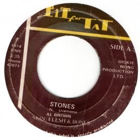 "(7"") AL BROWN - STONES / SKIN FLESH & BONES - VERSION"