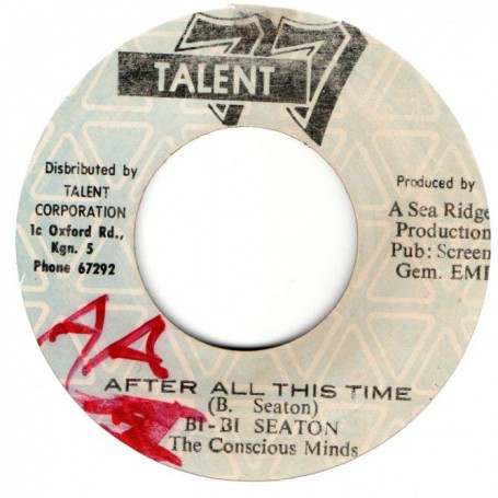 """(7"""") BB SEATON - AFTER ALL THIS TIME / THE CONSCIOUS MINDS - VERSION"""