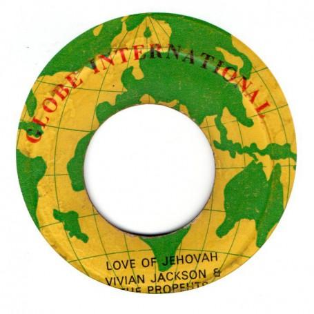 """(7"""") VIVIAN JACKSON & THE PROPHETS - LOVE OF JEHOVAH / I ROY - FORWARD I MAN A YARD"""