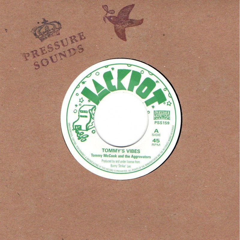 """(7"""") TOMMY MCCOOK AND THE AGGROVATORS - TOMMY'S VIBES / VERSION"""