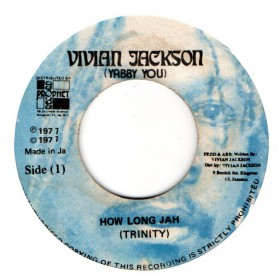 "(7"") TRINITY - HOW LONG JAH / VERSION"