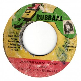 "(7"") GIDEON JAH RUBBAAL - JUDGEMAN TIME / JUDGEMAN IN DUB"