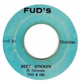"(7"") FUD & DEL - BEEF STICKER / PRINCE HERON - TEN COMMANDMENT"