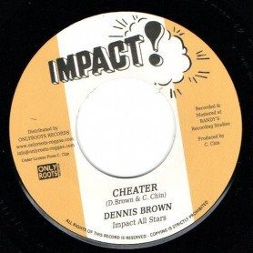 "(7"") DENNIS BROWN - CHEATER / TOMMY McCOOK & IMPACT ALL STARS - HARVEST IN THE EAST"