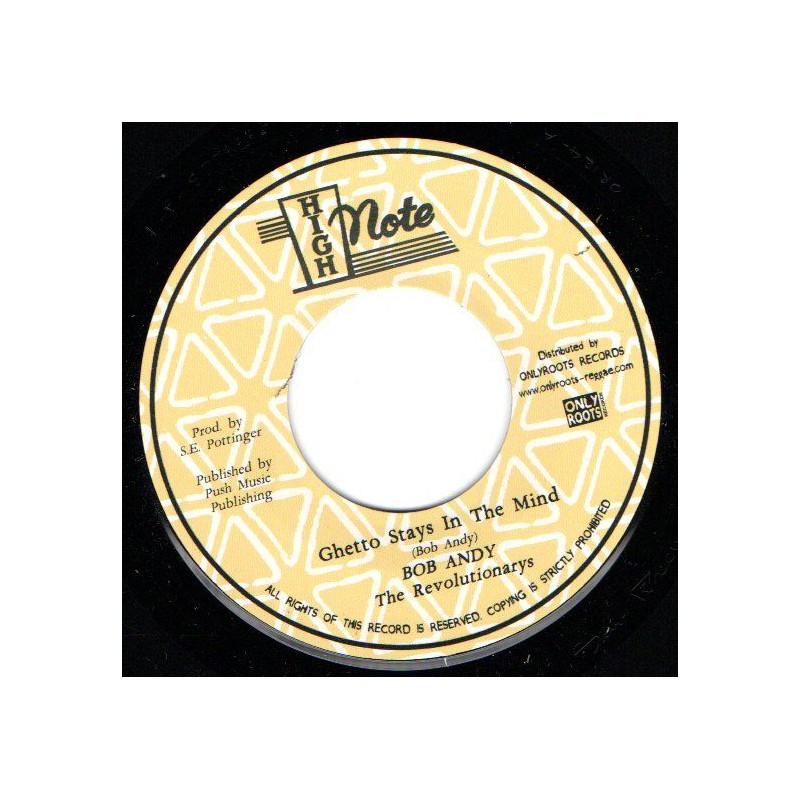 """(7"""") BOB ANDY - GHETTO STAYS IN THE MIND / THE REVOLUTIONARIES - GHETTO DUB"""