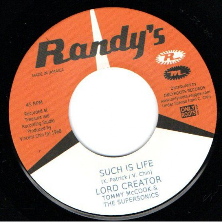 """(7"""") LORD CREATOR - SUCH IS LIFE / COME DOWN 68"""