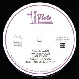"(12"") THE PARAGONS, JAH STONE, TOMMY McCOOK & THE SUPERSONICS - RIDING HIGH / MERCI, MERCY, MERCY"