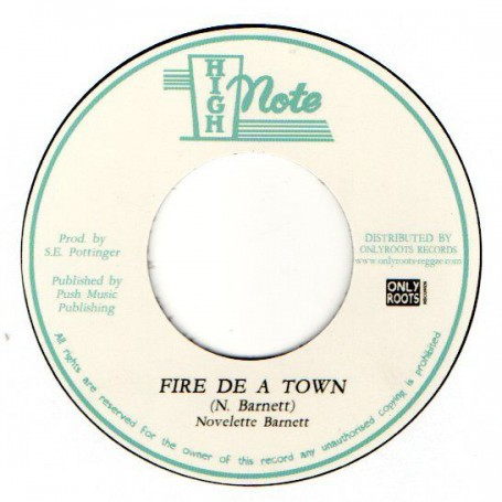 """(7"""") NOVELETTE BARNETT - FIRE DE A TOWN / SKY NATION - FIRERY DUB"""