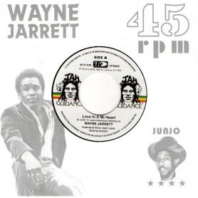 """(7"""") WAYNE JARRETT - LOVE IN A MI HEART / ROOTS RADICS - BLOOD ON HIS LIPS"""