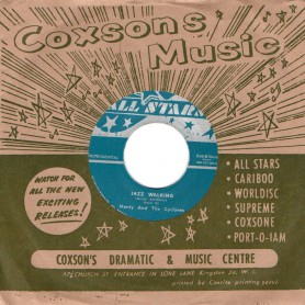 """(7"""") MONTY AND THE CYCLONES - JAZZ WALKING / DONALD DRUMMOND - JUST COOL"""