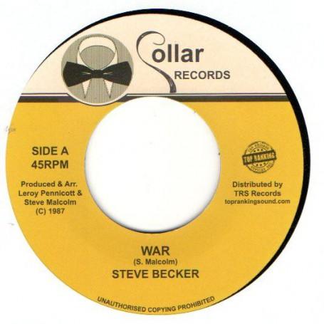 """(7"""") STEVE BECKER - WAR / VERSION"""