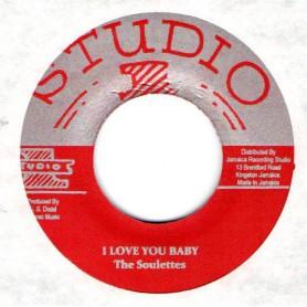 "(7"") THE SOULETTES - I LOVE YOU BABY / SKATALITES - INSTRUMENTAL"