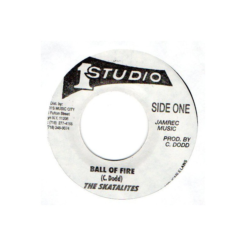 """(7"""") THE SKATALITES - BALL OF FIRE / THE TONNETS - EVERY TIME"""